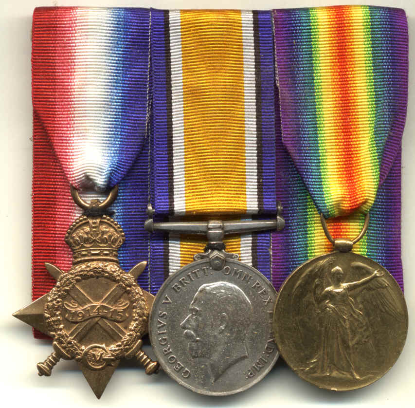 World War One medal trio